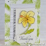 CARD: Thank you flower Card from the Humming Along stamps