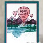 CARD: Life is a beautiful ride hot air balloon card
