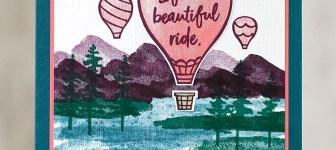 CARD: Life is a beautiful ride hot air balloon card