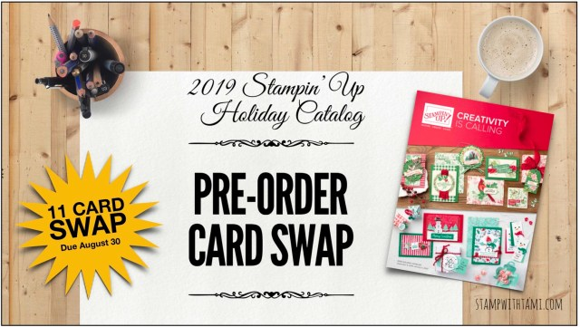 SWAP: Stampin Up Holiday Catalog Pre-Order Full Card Swap