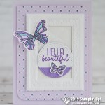 CARD: Hello Beautiful Card from the Butterfly Gala Bundle