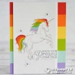 """CARD: Make your dreams come true – Unicorn """"wow"""" card"""