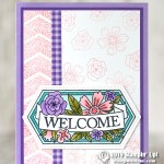 CARD: Welcome card from the Believe You Can stamp set