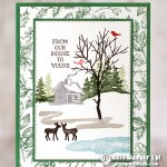CARD: From our house to yours from the Snow Front  stamp set