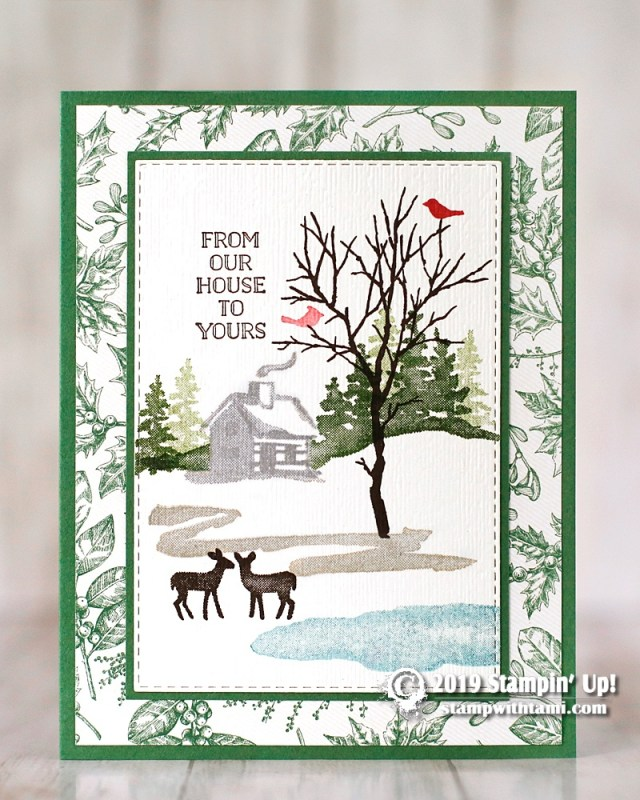 stampin up snow front christmas card