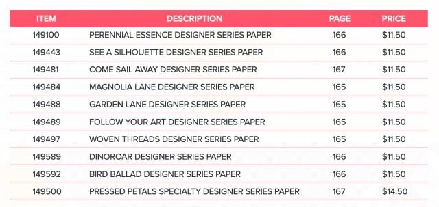 Stampin Up Designer Series Paper buy 3 get 1 free sale