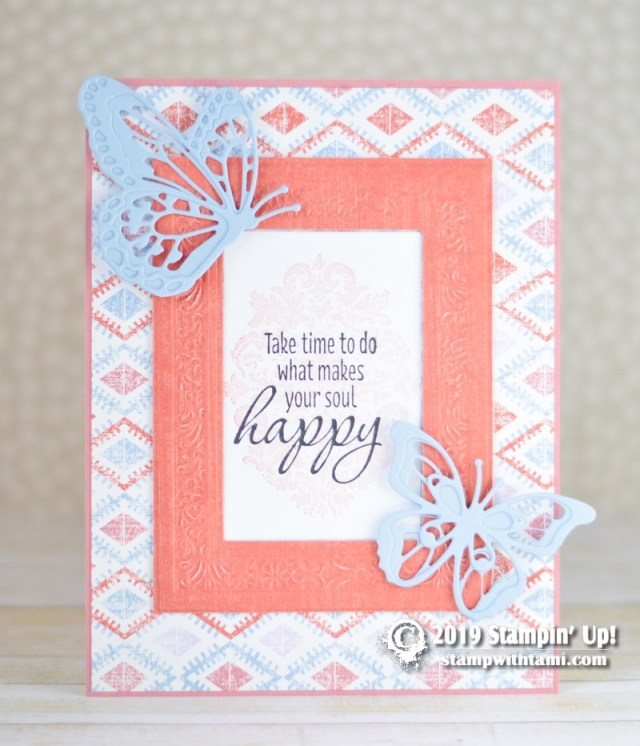 Stampin up woven heirlooms traditions card