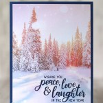 CARD: Peace, Love and Laughter from the Everything Festive Stamps