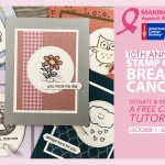 FUNDRAISER: 10th Annual Stamp Out Breast Cancer Giveaway & Free Tutorial