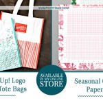 Stampin Up Reusable Bags and Holiday Grid Paper
