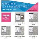 Online Extravaganza beings now through Friday only – see ideas here