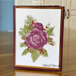 "CARD: Gorgeous ""no line"" stamping with the Christmas Rose stamp set"