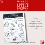 Win the Stampin Up Little Ladybug Sale-a-bration Hostess Stamp Set