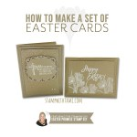 VIDEO: How to make a set of Easter Promise Cards & how to use White Ink