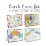 Punch Card Set from the Pleased as Punch Designer Paper