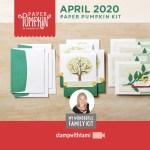 "VIDEO: April Paper Pumpkin Kit ""My Wonderful Family"" Card Kit"
