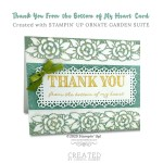CARD: Thank you from the bottom of my heart car d from the Ornate Garden Suite