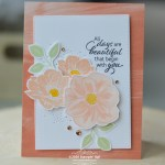 CARD: Beautiful Days card from the Floral Essence Stamp Set