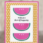 CARD: Slice of Happiness card from the Cute Fruit Stamps