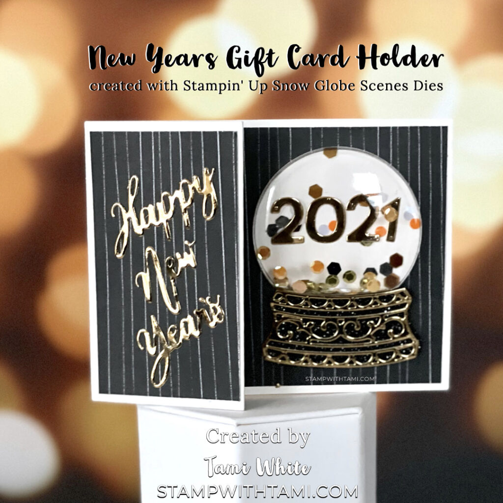 New Years Gift Card Holder
