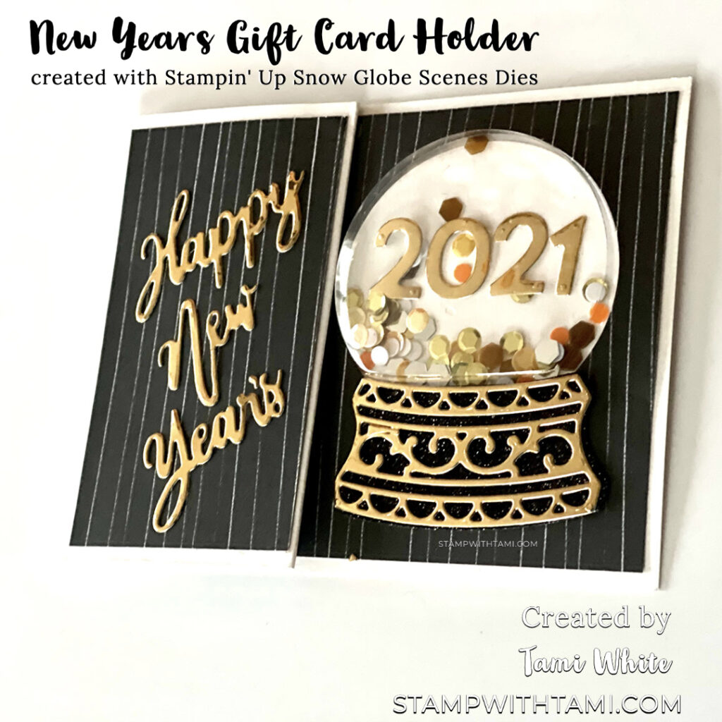 New Years Card & Gift Card Holder