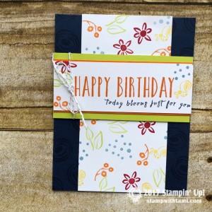 Perennial Birthday Stamp Set / Kit