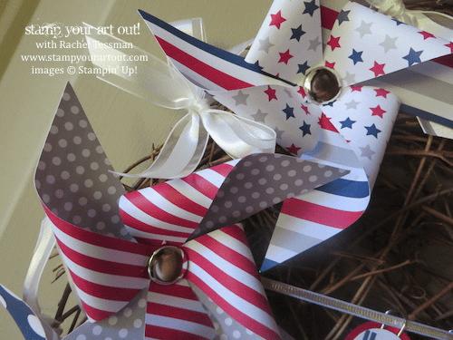 June 2014 My Paper Pumpkin: Pinwheel Party Alternate Ideas – A Welcoming Door Wreath… Stampin' Up!® - Stamp Your Art Out! www.stampyourartout.com