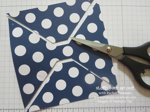 June 2014 My Paper Pumpkin: Making a Bow from a Pinwheel Pattern… Stampin' Up!® - Stamp Your Art Out! www.stampyourartout.com