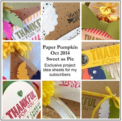 Sneak Peek at the October 2014 Sweet As Pie Paper Pumpkin kit exclusive alternate projects… #stampyourartout #stampinup - Stampin' Up!® - Stamp Your Art Out! www.stampyourartout.com