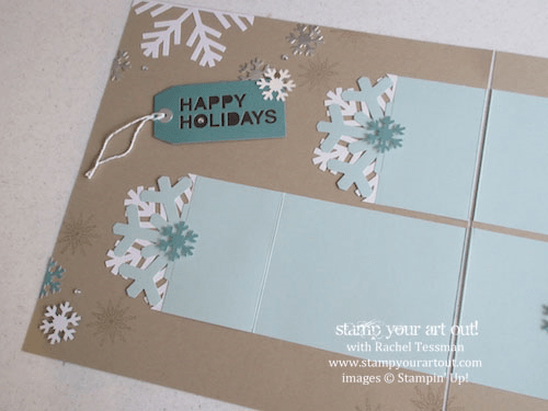 November 2014 Simply Snowflake Paper Pumpkin scrapbook pages…  #stampyourartout #stampinup - Stampin' Up! - Stamp Your Art Out! www.stampyourartout.com