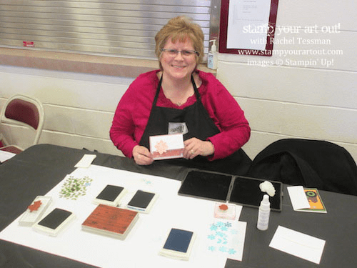 Fun at the Demos Galore event… Stampin' Up!® #stampyourartout #stampinup - Stamp Your Art Out! www.stampyourartout.com
