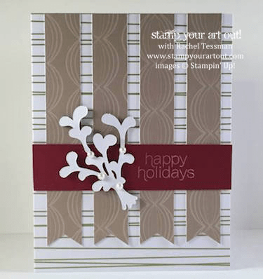 My subscribers get 10-13 exclusive ideas each month. This is a peek at one of the November 2015 Mistletoe & Holly Paper Pumpkin kit exclusive alternate projects… #stampyourartout #stampinup - Stampin' Up!® - Stamp Your Art Out! www.stampyourartout.com