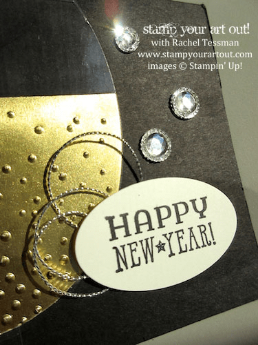 New Year's Card created with the Six Sayings stamp set & the Ovals Collection Framelits… #stampyourartout #stampinup - Stampin' Up! - Stamp Your Art Out! www.stampyourartout.com