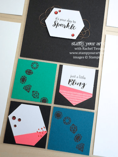 Project Life Gem Page Layout - Click here to see lots of project ideas created with the July 2016 What A Gem Paper Pumpkin kit… #stampyourartout - Stampin' Up!® - Stamp Your Art Out! www.stampyourartout.com