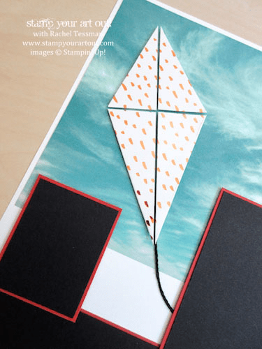 12x12 Kite Layout - Click here to see lots of project ideas created with the July 2016 What A Gem Paper Pumpkin kit… #stampyourartout - Stampin' Up!® - Stamp Your Art Out! www.stampyourartout.com