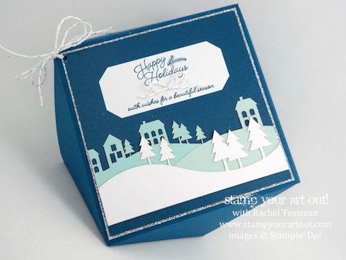 Faceted Box Made With Envelope Punch Board and November 2016 Wonderful Winterland Kit… #stampyourartout - Stampin' Up!® - Stamp Your Art Out! www.stampyourartout.com