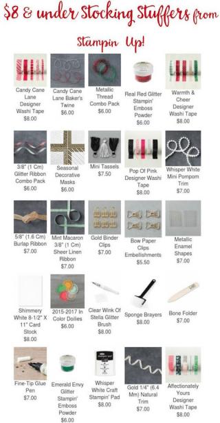 Stampin' Up! Stocking stuffer ideas… #stampyourartout - Stampin' Up!® - Stamp Your Art Out! www.stampyourartout.com