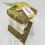 Gift Box in a Card made with the Layered Leaves September 2017 Paper Pumpkin kit… #stampyourartout - Stampin' Up!® - Stamp Your Art Out! www.stampyourartout.com