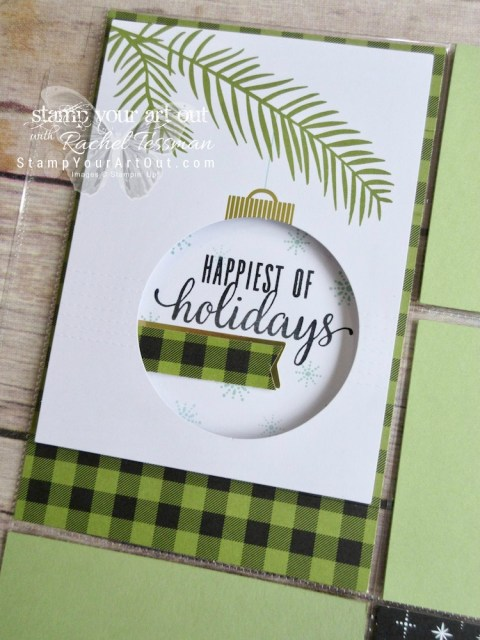 """Photo pocket page created with the October 2017 """"Pining for Plaid"""" Paper Pumpkin kit!…#stampyourartout - Stampin' Up!® - Stamp Your Art Out! www.stampyourartout.com"""