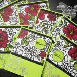 Here is a sneak peek at the Petal Passion Suite in the upcoming 2018 Occasions Catalog. To make this card, I used the Petal Palette stamp set and coordinating Petals & More Thinlits Dies along with the Petal Passion Designer paper that I colored with the new Cherry Cobbler and Old Olive alcohol-based Stampin' Blends Markers. Click here for directions!...#stampyourartout #stampinup - Stampin' Up!® - Stamp Your Art Out! www.stampyourartout.com