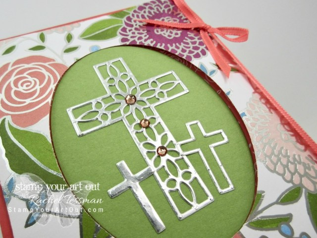 A couple Easter Tri-Panel Fold Window cards created with the Sweet Soirée designer paper, Hold Onto Hope stamp set & coordinating Cross of Hope Framelits, and the Celebrate You Thinlits –a free 2018 Level Two Sale-a-Bration pick that will be also be available in the upcoming 2018-19 Annual Catalog....#stampyourartout #stampinup - Stampin' Up!® - Stamp Your Art Out! www.stampyourartout.com