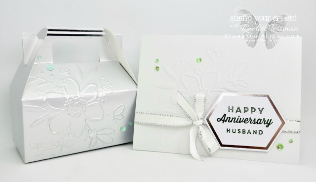Click here to see fun alternate project ideas created with the May 2018 Manly Moments Paper Pumpkin kit in A Paper Pumpkin Thing Blog Hop! I shared a few too, including an anniversary card and coordinating gable box both embossed with the new Lovely Floral embossing folder. Have fun on the hop!…#apaperpumpkinthing #stampyourartout #stampinup - Stampin' Up!® - Stamp Your Art Out! www.stampyourartout.com
