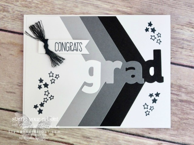 Graduation card created with the Layering Alphabet dies …#stampyourartout #stampinup - Stampin' Up!® - Stamp Your Art Out! www.stampyourartout.com
