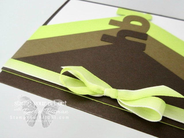 HB (Happy Birthday) card created with the Layering Alphabet dies, Birthday Backgrounds stamp set, Lemon Lime Twist Ombré ribbon and the Stamparatus…#stampyourartout #stampinup - Stampin' Up!® - Stamp Your Art Out! www.stampyourartout.com