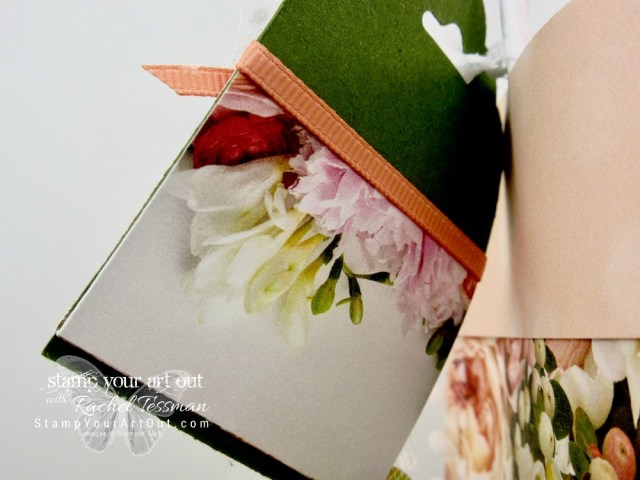 A beautiful collapsible gift bag & tag made with the Petal Promenade Designer Paper…#stampyourartout #stampinup - Stampin' Up!® - Stamp Your Art Out! www.stampyourartout.com