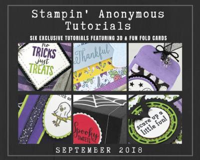"""Monthly Tutorial Bundles contain 6 EXCLUSIVE """"better than flat"""" projects (fun fold cards or 3-D items) created by myself and 5 other talented, but anonymous Stampin' Up! demonstrators. Place an order in the month of September, and get this bundle for free! Or choose the option to purchase them for just $9.95…#stampyourartout #stampinup - Stampin' Up!® - Stamp Your Art Out! www.stampyourartout.com"""