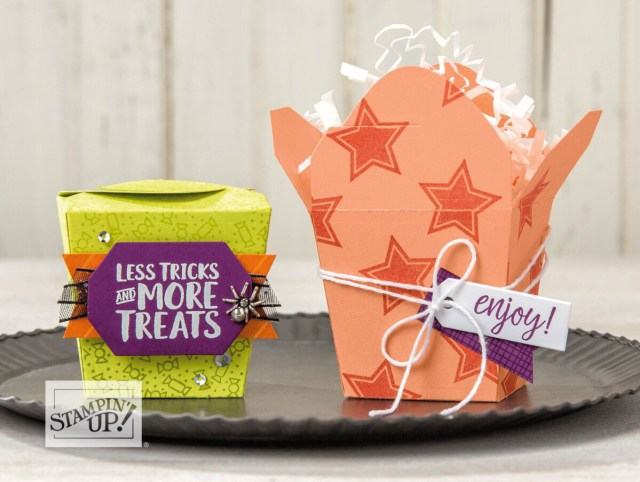 Takeout Box Dies – New in the 2018 Holiday Catalog …#stampyourartout #stampinup - Stampin' Up!® - Stamp Your Art Out! www.stampyourartout.com
