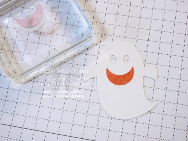 """I just had to CASE the """"baby shark from the ghost"""" idea from Jessica Cruz de Urrutia and make a card of my own! Too cute! Click here to see one more alternate project idea that I put together (and gifted to a few of my subscribers) with the September 2018 Frights & Delights Paper Pumpkin kit…#stampyourartout #stampinup - Stampin' Up!® - Stamp Your Art Out! www.stampyourartout.com"""