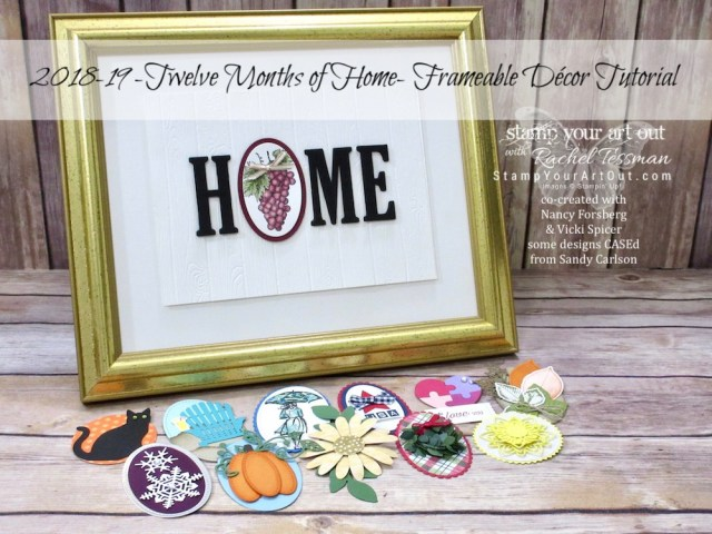 Look at this gorgeous home décor item – 12 Months of Home Frameable Décor! The good news is you can also make one for yourself if you wish! Click here to purchase the tutorial...#stampyourartout #stampinup - Stampin' Up!® - Stamp Your Art Out! www.stampyourartout.com