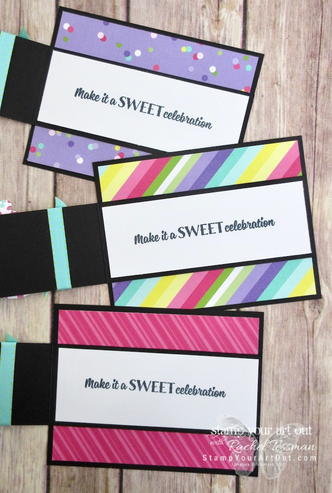 I created some fun birthday strip fold cards using new products in the How Sweet It Is Suite from the 2019 Occasions Catalog. Click here for measurements and directions. #stampyourartout #stampinup - Stampin' Up!® - Stamp Your Art Out! www.stampyourartout.com